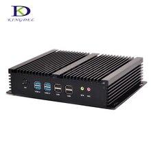 Новое поступление безвентиляторный мини-компьютер Intel Core i7 5550U Dual Core Mini PC 6 com RS232 HDMI VGA промышленные Linux pc NC310