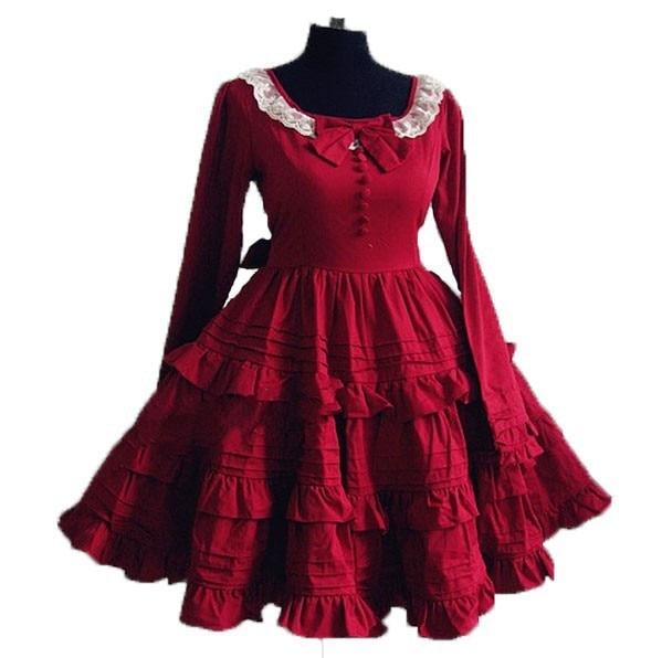 (LLT059) vente en gros-livraison gratuite femmes classique doux Lolita robe Halloween Cosplay costume partie punk lolita robe personnalisée