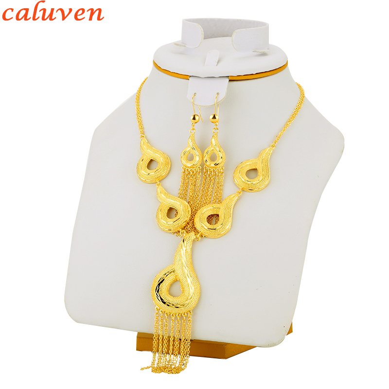 Ethiopian Jewerly Set Gold Color Sets For Shell Earring/Necklace/Pendant African/Habesha/Eritrea/Arabic/Nigeria Women Gift