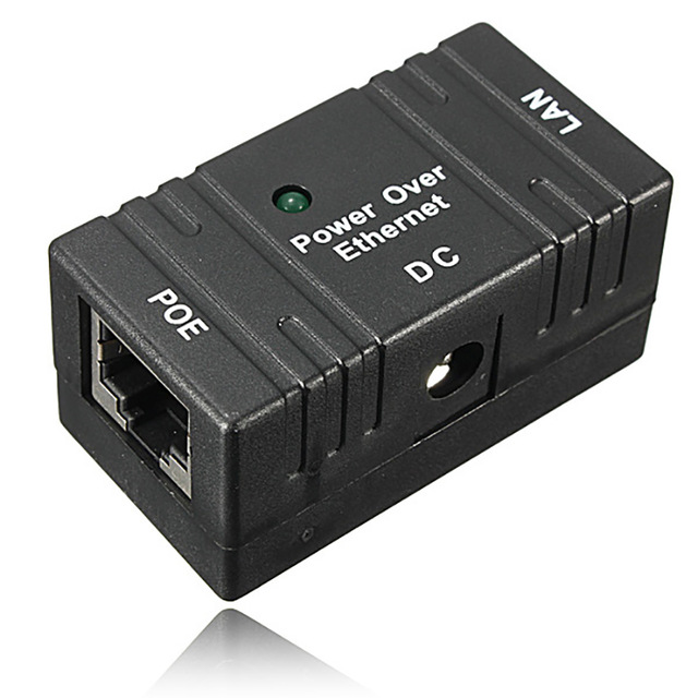 все цены на 10/100 Mbp Passive POE DC Power Over Ethernet RJ-45 Injector Splitter Wall Hanging Adapter For IP Camera LAN Network 1PC онлайн