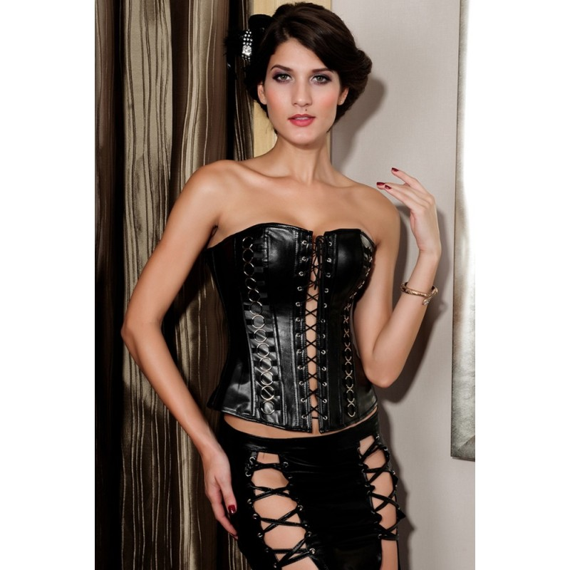 317d771e48 2017 Plus Size 6XL Women Corsets Tight Lacing Up Rings Waist Cincher Rock  Steampunk Clothing Faux ...