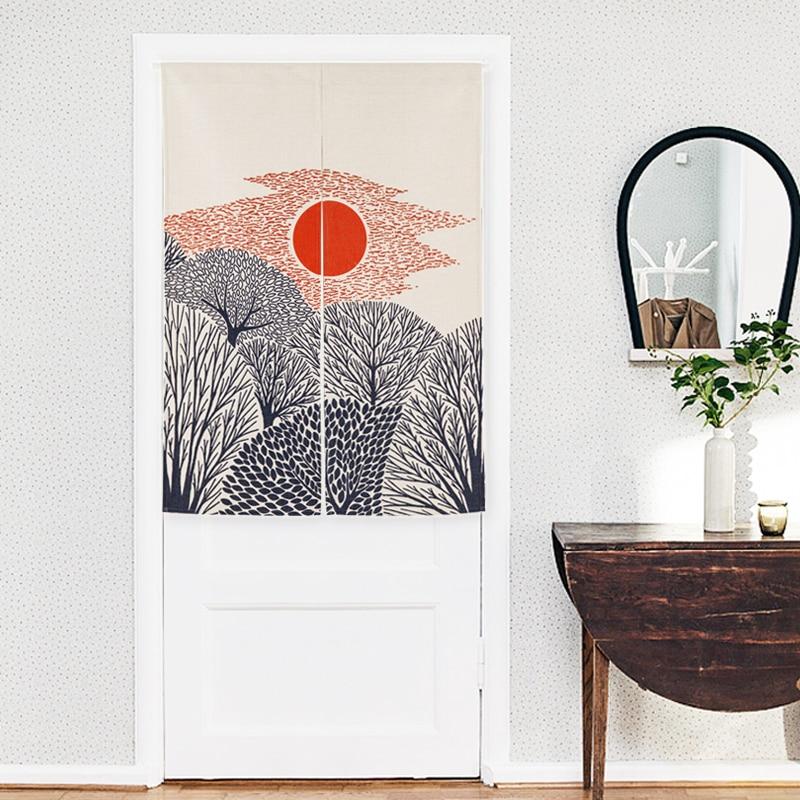 New Linen NOREN Japanese Style Door Curtain Sunset Sunrise Balloon Summer  Tapestry 85x120cm/85x90cm In Curtains From Home U0026 Garden On Aliexpress.com  ...
