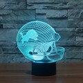 NFL Team Logo 3D Light LED Detroit Lions Football Cap Helmet 7 Color Changing Night Light for Children Bedroom Sleeping Light