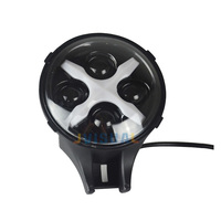 6 inch Round Led Auxiliary Light 60w Car LED Spotlight 12/24v with Multi color DRL Fog Driving for Off road Vehicle Trucks