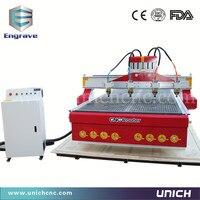 Trung quốc phổ biến 1500*3000mm khu vực làm việc bốn gỗ đầu cnc router