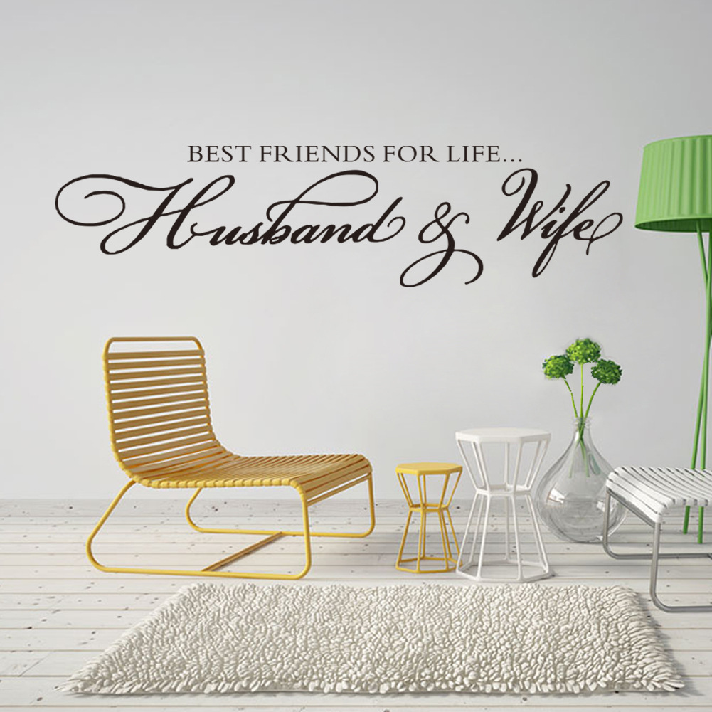 popular husband and wife wall decals buy cheap husband and wife husband wife best friends quotes wall decal decor bedroom wall sticker home decor wedding decoration art mural