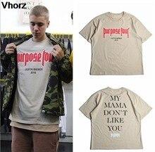 Casual hip hop skate justin bieber t-shirts streetwear camiseta minha mãe não gosta de você