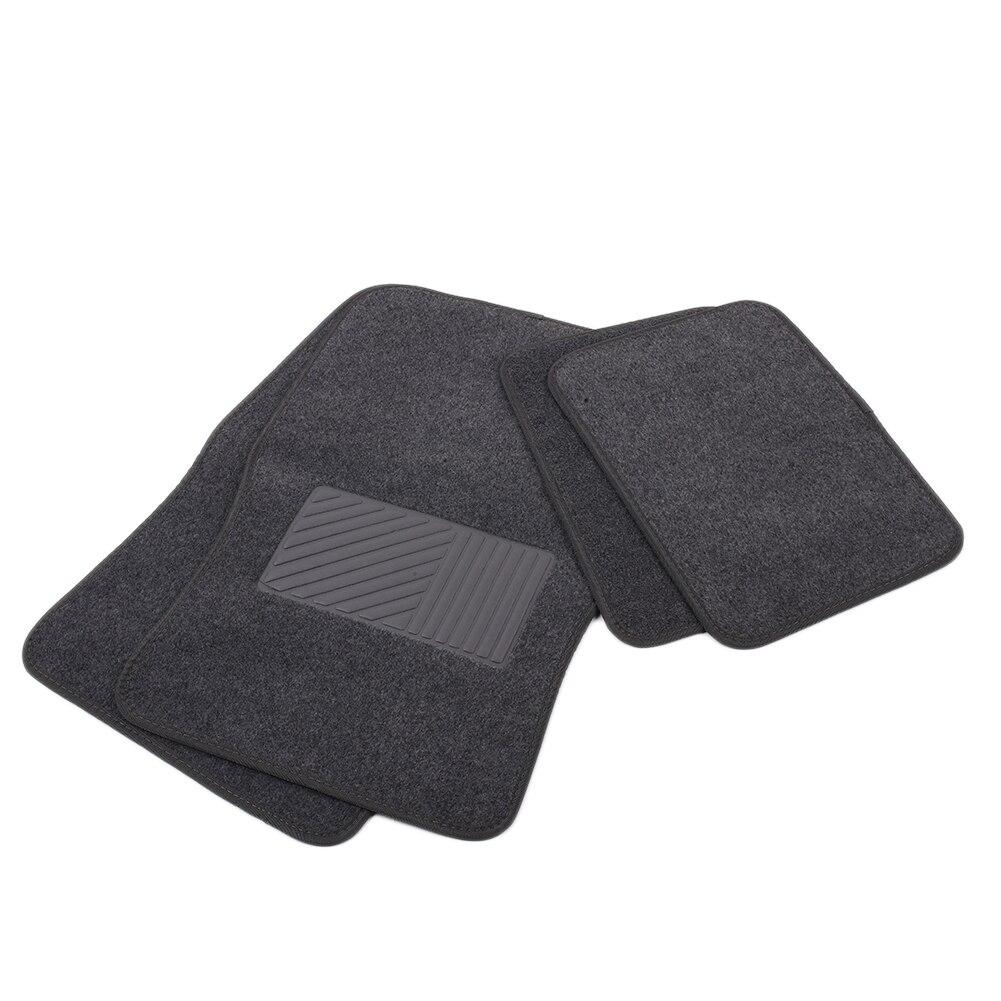 Vehemo 4 pcs Coton + PU Prime Universal Auto Tapis Tout-Temps FloorLiner Plancher De la Voiture Pad Voiture Pilote Étage tapis Étanche