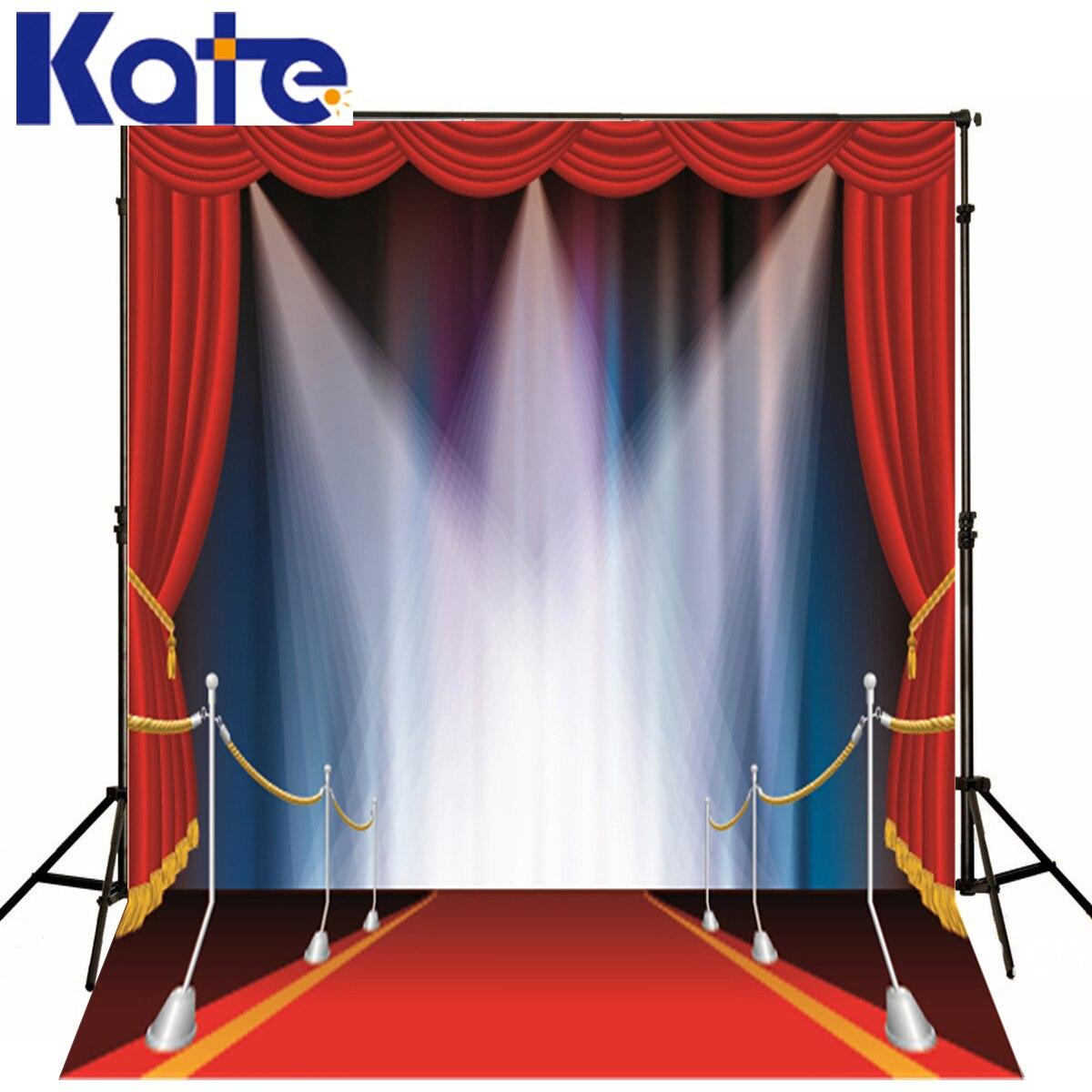Kate fond photographique rouge rideau tapis rouge projecteur faisceau été espace décors garçon mariage 150x200 cm