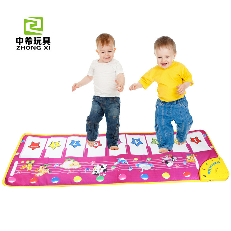 Multifunction Baby Play Crawling Mat Touch Type Electronic Piano Music Game Mats Animal Sounds music game Mat Toys slw 8095 2 5 led screen carnival duck home shooting game set w music authentic sounds red