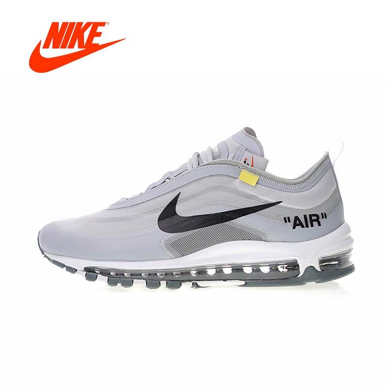 Original Nouvelle Arrivée Authentique Nike Air Max 97 x Off-Blanc Hommes Chaussures de Course de Sport En Plein Air Sneakers Bonne qualité AJ4585-002