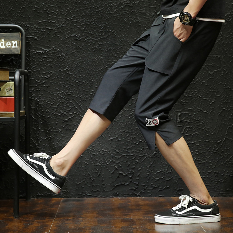 Will Goods Seven Part Nine Male Leisure TimeSummer Wear casual black and gray Favourite Fashion Free shipping