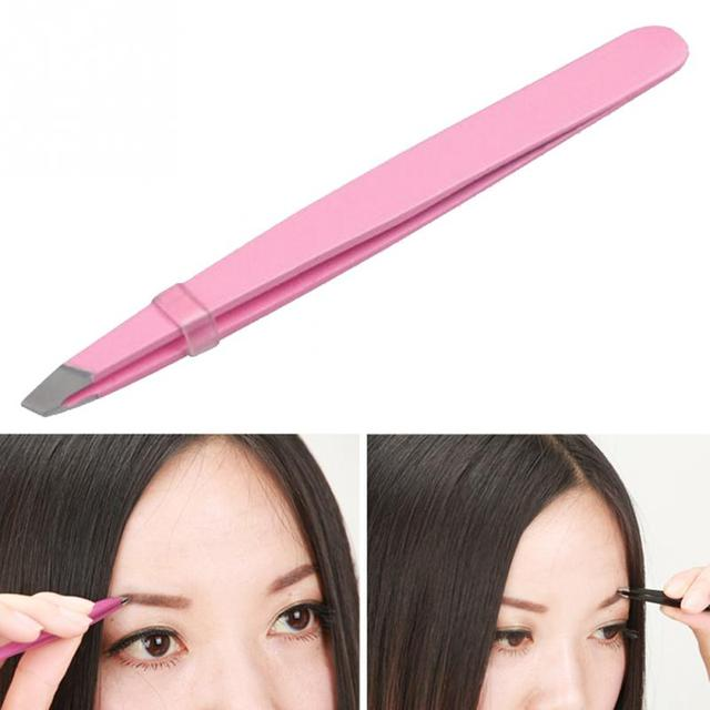 Fashion Women Lady Eyebrow Eye Brow Tweezers Hair Removal Stainless