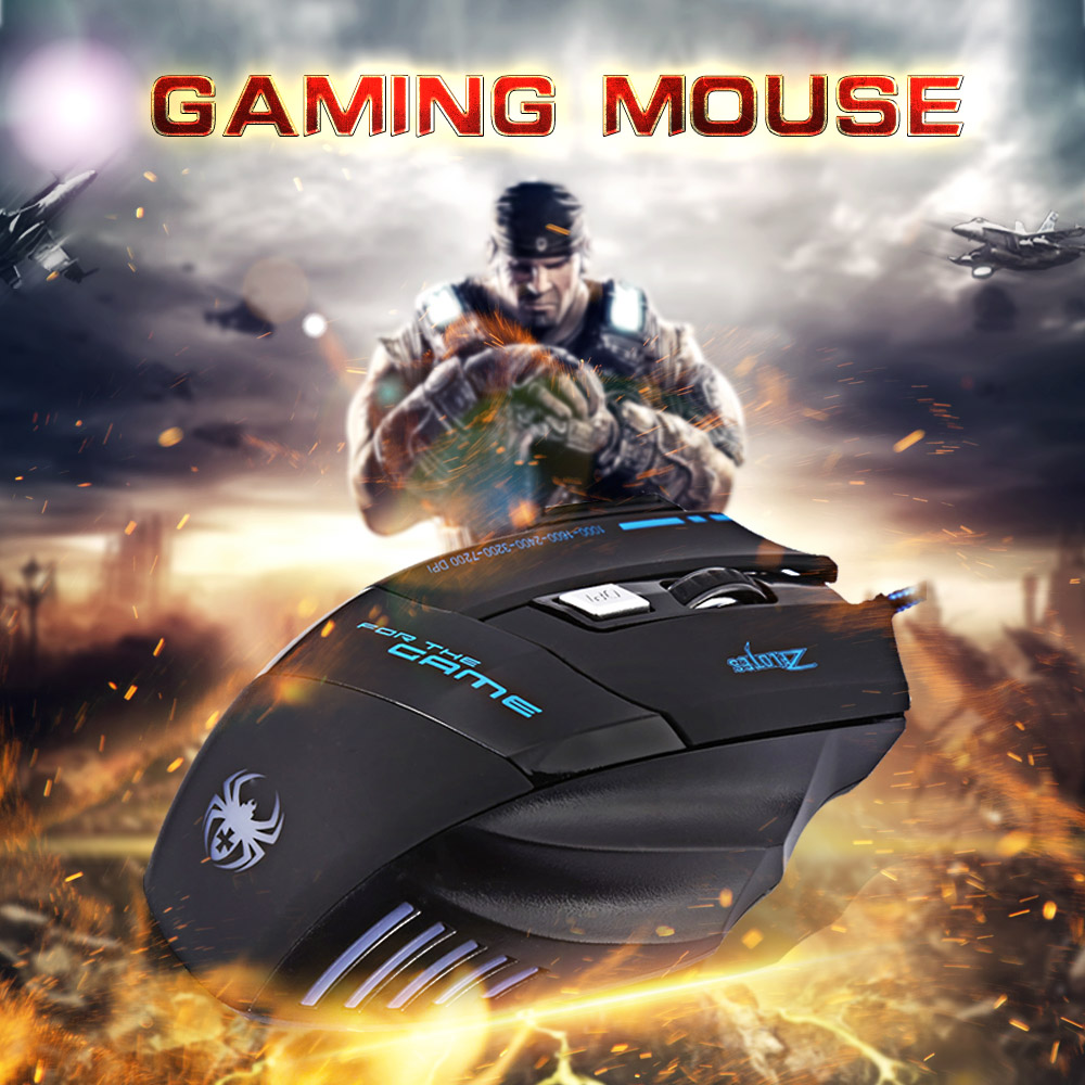 Globale Electronic Style Co.,Ltd ZELOTES T80 Wired Gaming Mouse 7 Buttons Optical Professional Mouse Gamer Computer Mice For Laptops Desktops Raton Ordenador X7