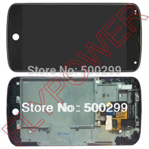 For LG Optimus E960 Google Nexus 4 Lcd Screen With Touch Screen digitizer assembly with frame by free shipping; 100% warranty for lg google nexus 5 d820 d821 lcd screen display with touch screen digitizer assembly frame by free shipping 100% warranty