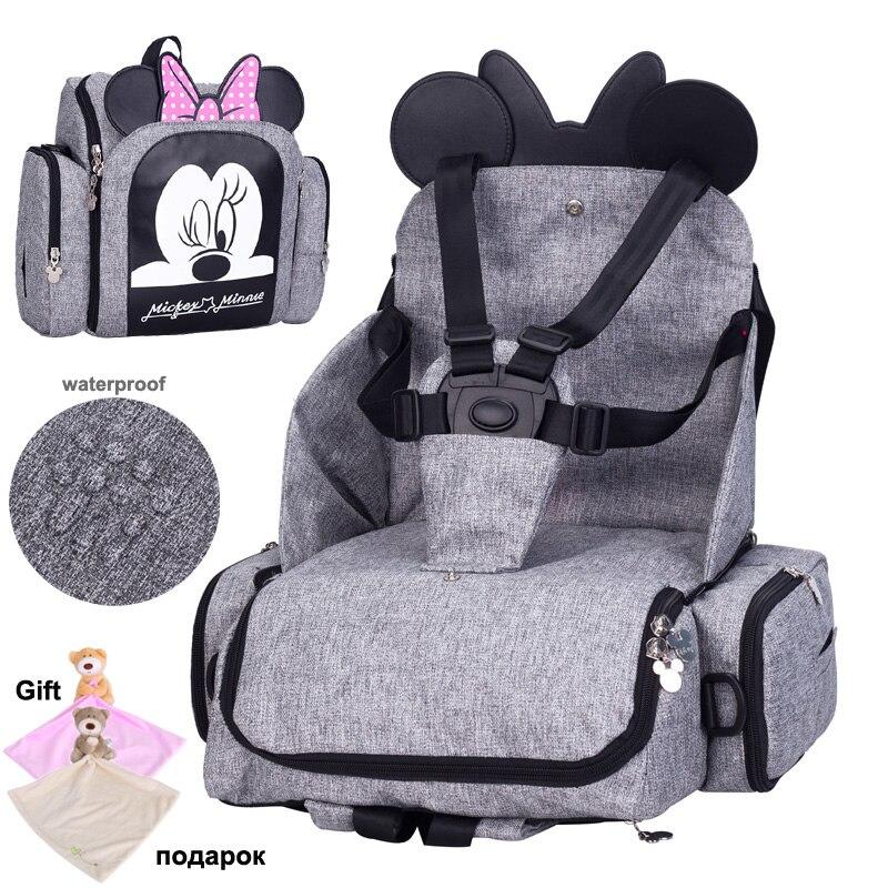 2019 Sacchetto Del Pannolino Del Bambino Booster Seat Impermeabile Maternità Zaino Da Viaggio Sacchetto Del Pannolino Del Sacchetto Mini Disegno di Mickey Mouse di Cura del Sacchetto di Spalla