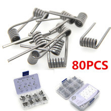 80pcs 8 in 1 Premade Coil Alien Clapton Fused Twisted Heating Wire for Vape