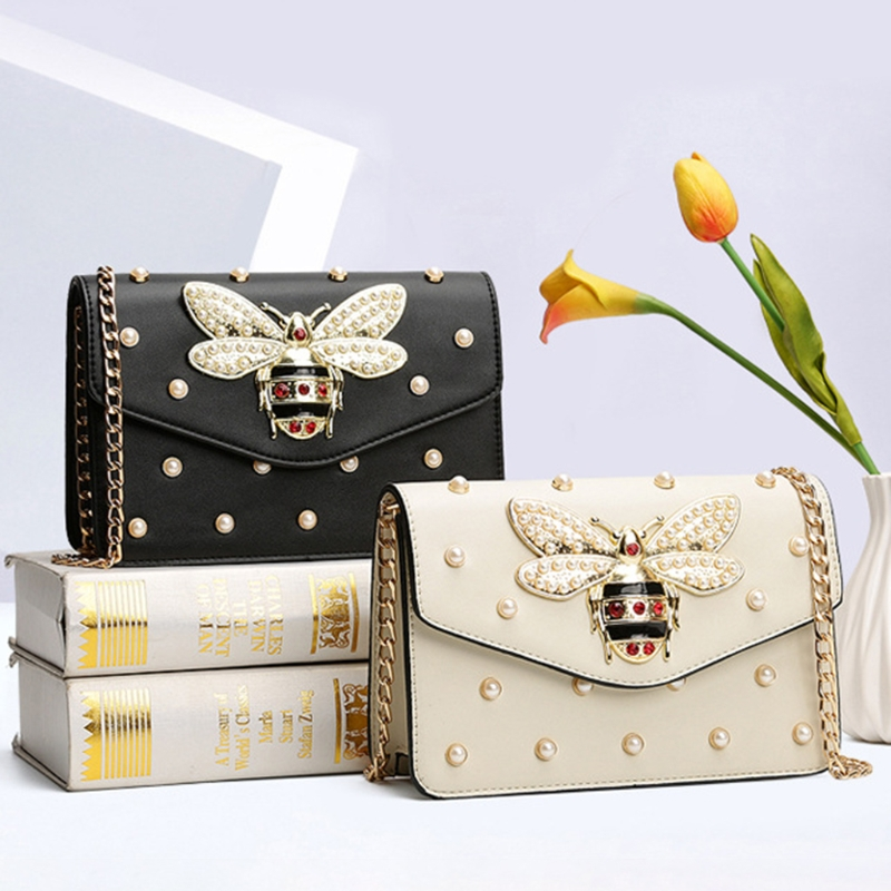 Image 5 - THINKTHENDO Fashion Lady Women Bee Rivets Bag Messenger Crossbody Shoulder Bag Handbags New Hot Large Capacity-in Shoulder Bags from Luggage & Bags
