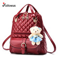 Girls Women Quilted Thread Backpack 2016 New Fashion Multifunctional Pendant School Bags