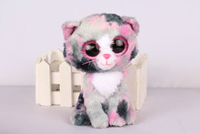 Ty Beanie Boo Lindi the Cat Plush Christmas Gifts Lovely Kawaii Cute Soft Stuffed Animals Dolls