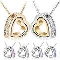 Colar de prata colares e pingentes de coração de prata pingente de coração colar de jóias JEW01121