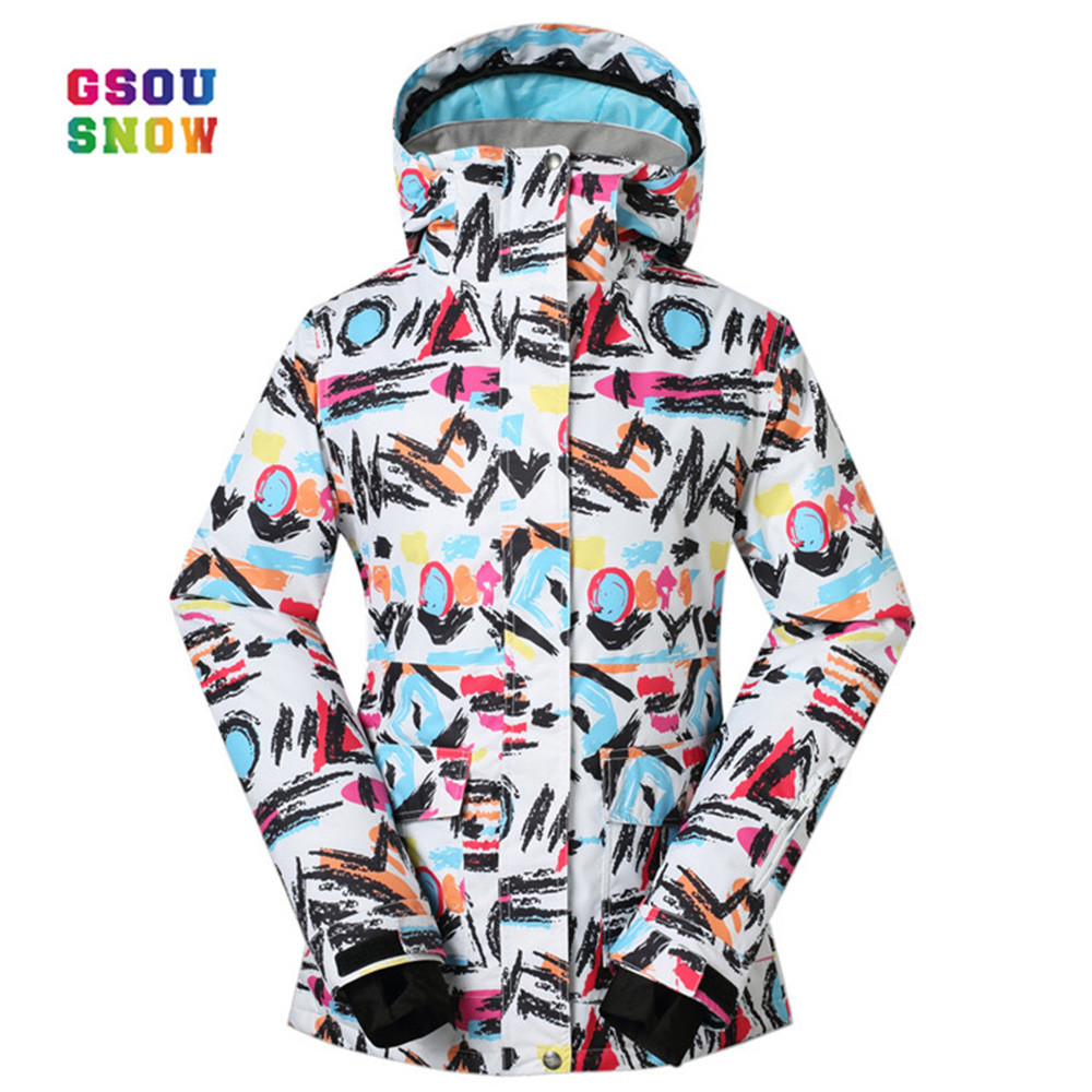 все цены на GSOU SNOW Windproof Women Outdoor Practical Snowboarding Coats Waterproof Windproof -30 Degree Female Ski Jackets Breathble онлайн