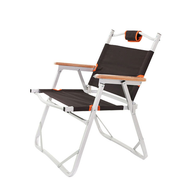 Charmant Folding Beach Chair Moon Shape Fishing Outdoor Furniture Al Ultralight  Chairs Foldable Stool Double Layers Oxford
