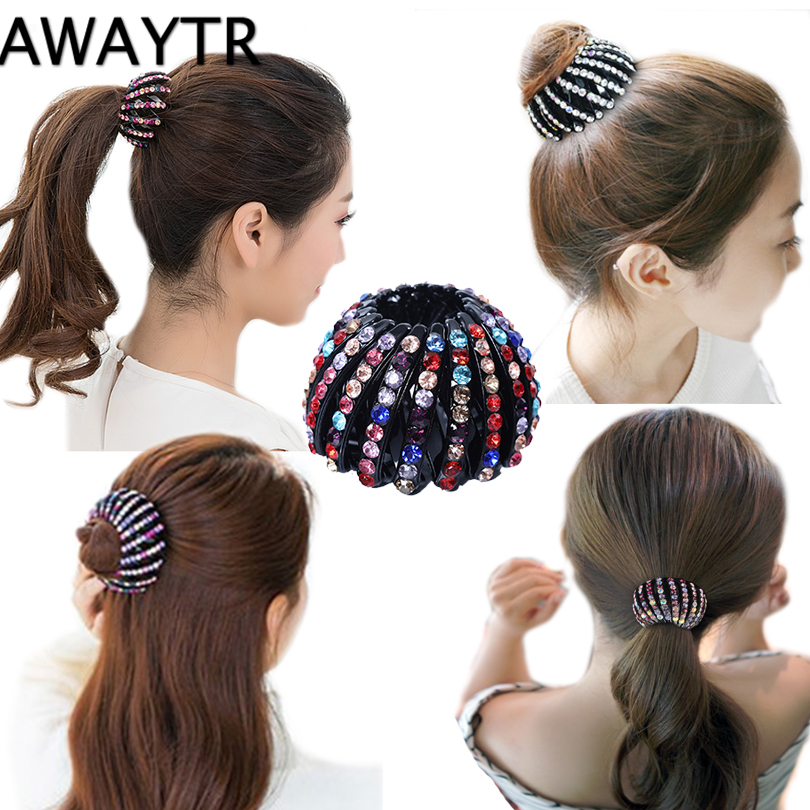 Women/'s Hair Clips Rhinestone Claw Pins Hairpin Ponytail Holder Hair Accessories