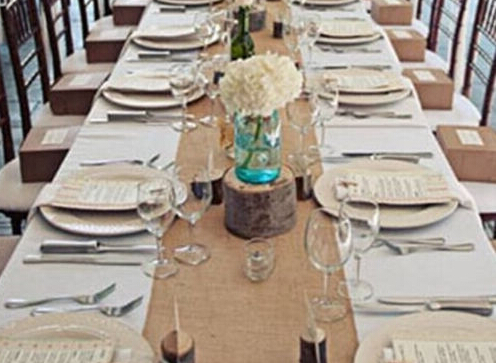 Hessian Burlap Table Runners Vintage Rustic Natural Wedding