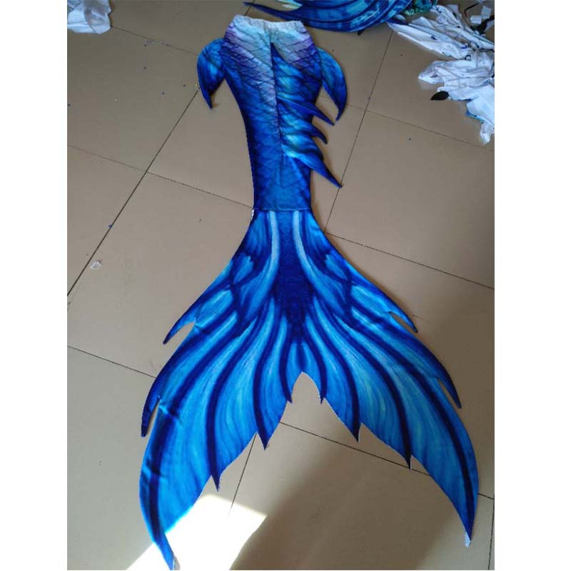 3pcs Girls Mermaid Tails Costumes With Monofin Adult Swimmable Bikinis Set Cosplay Customize Children Mermaid Tails For Swimming