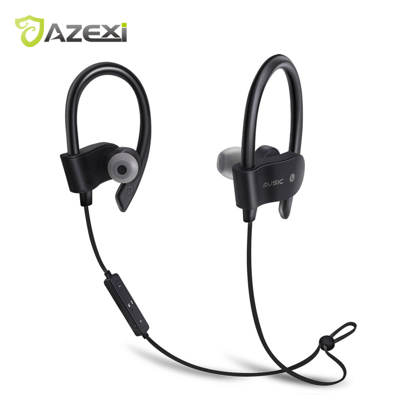 Azexi 56S Sports Bluetooth Headphone Wireless Earphone In-ear Neckband Upgraded Ear Hook Headset with MIC for iPhone 6 Huawei