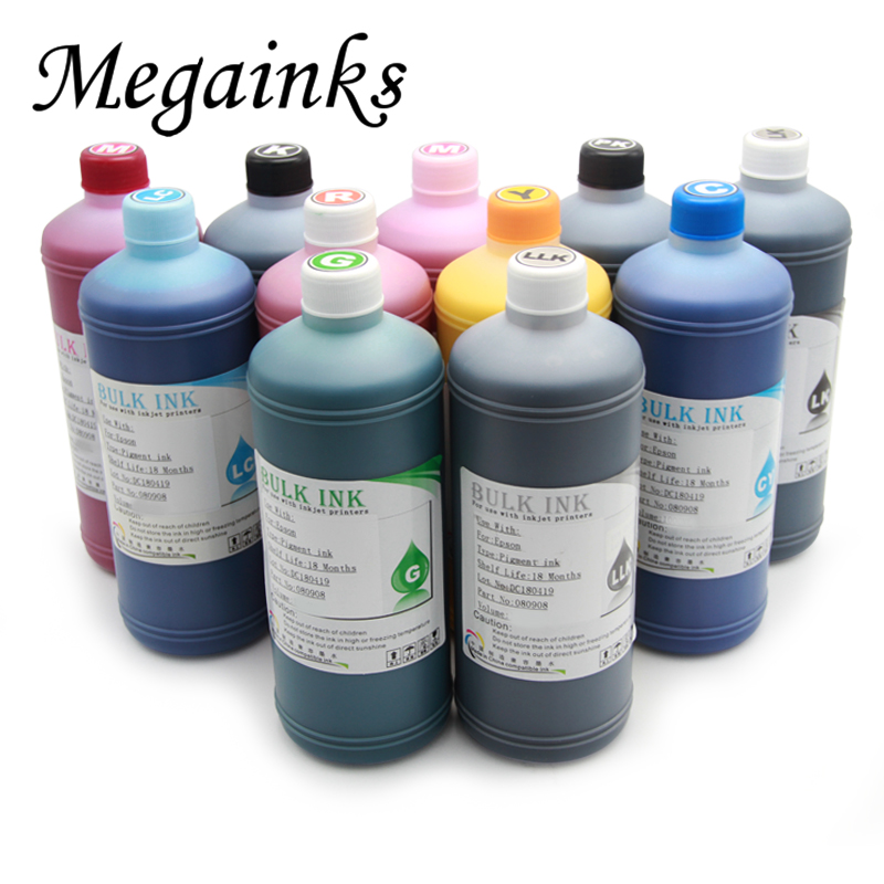 1000ML Pigment Ink For Epson T3270 T5270 T7270 3800 3880 4000 4880 4900 4450 7600 7710 7890 7800 7880 7900 9800 9880 9600 MBK