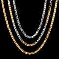 De Acero Inoxidable de Moda de Calidad superior de Las Mujeres Collar de Oro Chapado En Cadena Popcorn Collares Para Las Mujeres Regalo Del Partido
