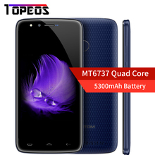 D'origine HOMTOM HT50 Android 7.0 MT6737 Quad Core Smartphone 5300 mAh 3 GB RAM 32 GB ROM 5.5 Pouce 1280×720 D'empreintes Digitales Mobile Téléphone