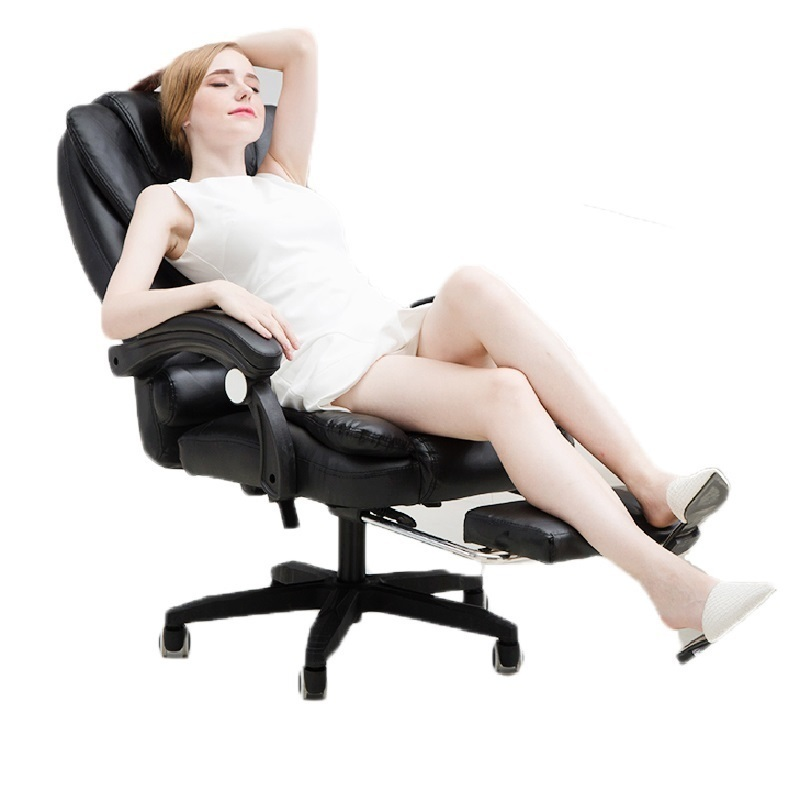 PI# 3056 Massage computer home office can lie with foot lifting ergonomic seat chair at the boss boss chair real leather computer chair home massage can lie in the leather chair solid wood armrest office chair 06