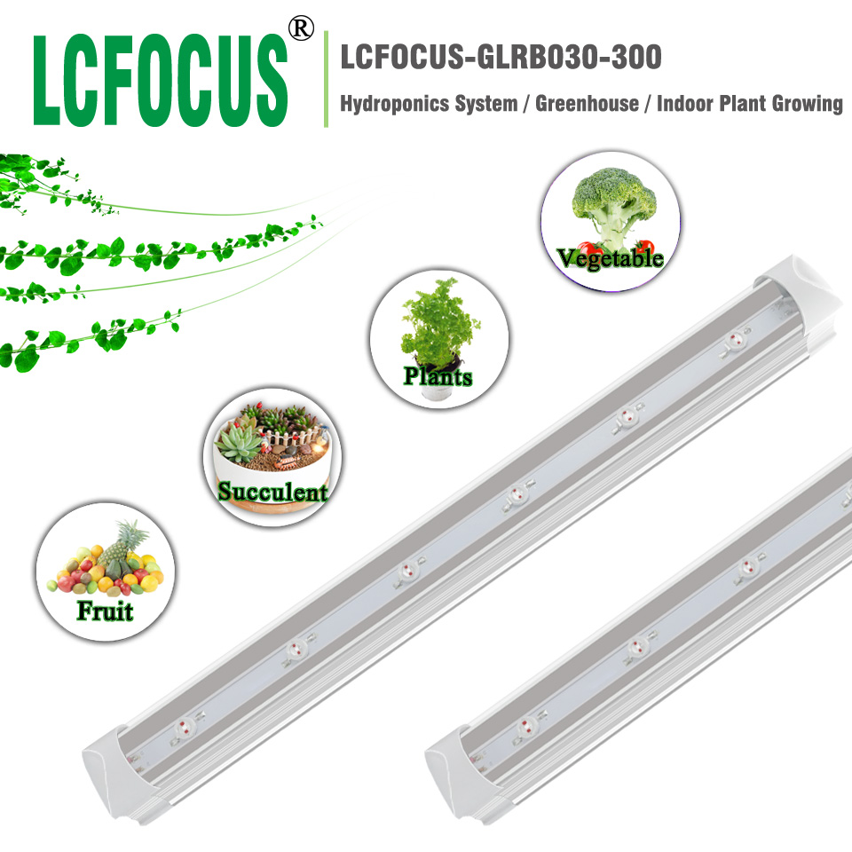 Hydroponice 30W <font><b>LED</b></font> Grow Light 660nm Red + <font><b>440nm</b></font> Blue 5W Grow <font><b>LED</b></font> T8 300MM Tube 110V 220V For Fruit Vegetable Tent Growth image