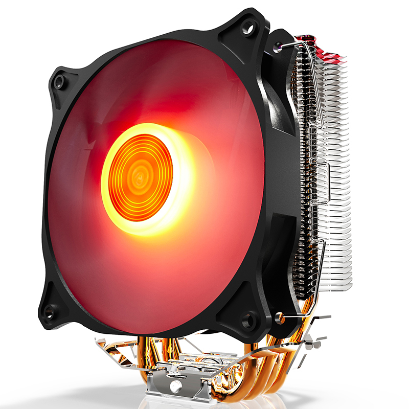 Aigo E4 CPU Cooler 120mm RGB LED CPU Fan Aluminum Heatsink for LGA 775/1150/1151/1155/1156/1366 & FM1/2,AM2+/3+ free shipping cpu cooler for intel lga 775 1155 1156 amd am3 am2 am2 754 heatsink fans