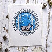 YaMinSanNiO Alphabet German Die Letter Metal Cutting Dies for DIY Scrapbooking Decorative Craft Paper Cards Making Alles Liebe