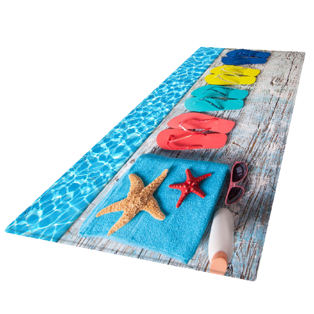 Us 17 62 32 Off 1 Pc 180x60cm 3d Bath Room Area Rug Runner Anti Skid Floor Mat Carpet For Living Room Swimming Pool Accessories In Pool
