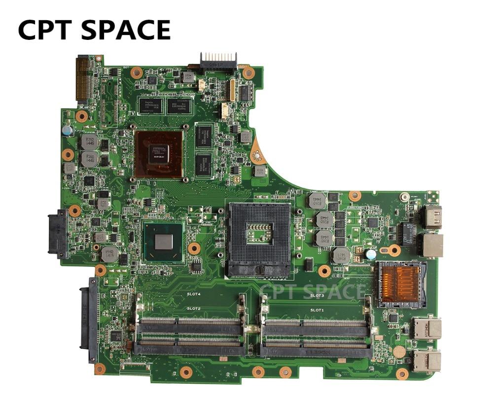 YTAI N53SV 4 RAM Slots 2G Mainboard For ASUS N53S N53SV N53SN N53SM Laptop Motherboard REV:2.2 HM65 DDR3 GT540M USB3.0 Mainboard