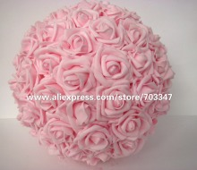 27cm Kissing Foam Rose Flower Ball Wedding Party Decorative Flowers & Wreaths( 8pcs/lot ),5 Colors *Free Shipping*
