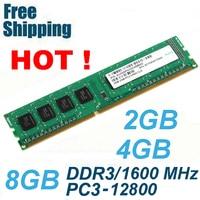 DDR3 1600/PC3 12800 2 GB 4 GB 8 GB Memoria Desktop di RAM compatibile con DDR 3 1600 1333 1066 MHz PC3-10600 A Vita garanzia
