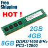DDR3 1600 / PC3 12800 2GB 4GB 8GB Desktop RAM Memory compatible with DDR 3 1600 1333 1066 MHz PC3-12800 10600 Lifetime Warranty