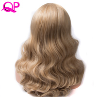 Qp hair Synthetic Wig Cosplay Long body Wave Heat Resistant Mix co1lor p27 613 Natural Wigs For Women