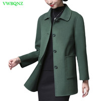 High end Double sided Woolen Jacket Women Loose Plus size Wool Coat Noble Women's Fang Ling Single breasted Overcoats 4XL A340