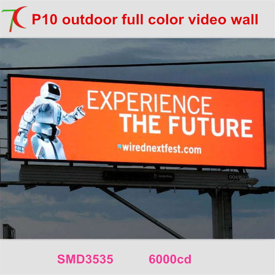 Manufacturer Sale P10 SMD Full Color Outdoor Waterproof Cabinet Screen For Advertisement  Led Display