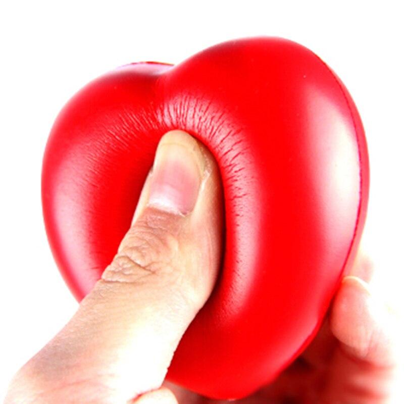 1pc 7cm kawaii Squishy Heart Shaped Funny Soft Foam Ball Stress Relief Squeeze Hand Wrist Soft Foam Vent Balls|Squeeze Toys| - AliExpress