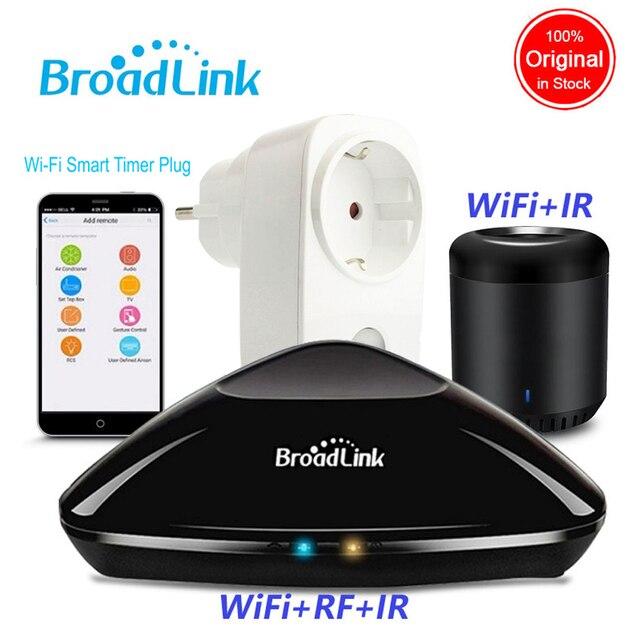 2019 Broadlink Rm Pro + RM Mini3 domótica WIFI + IR + RF controlador inteligente SP3 UE WiFi de enchufe inalámbrico remoto APP