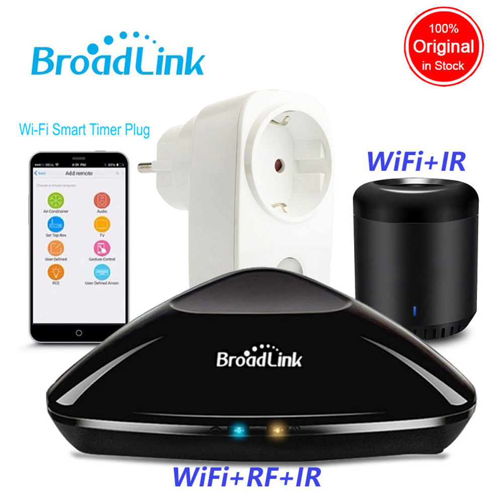 Original Broadlink Rm Pro RM Mini3 Home Automation WIFI+IR+RF Controller EU SP3 WiFi Power Socket Wireless APP Remote Control