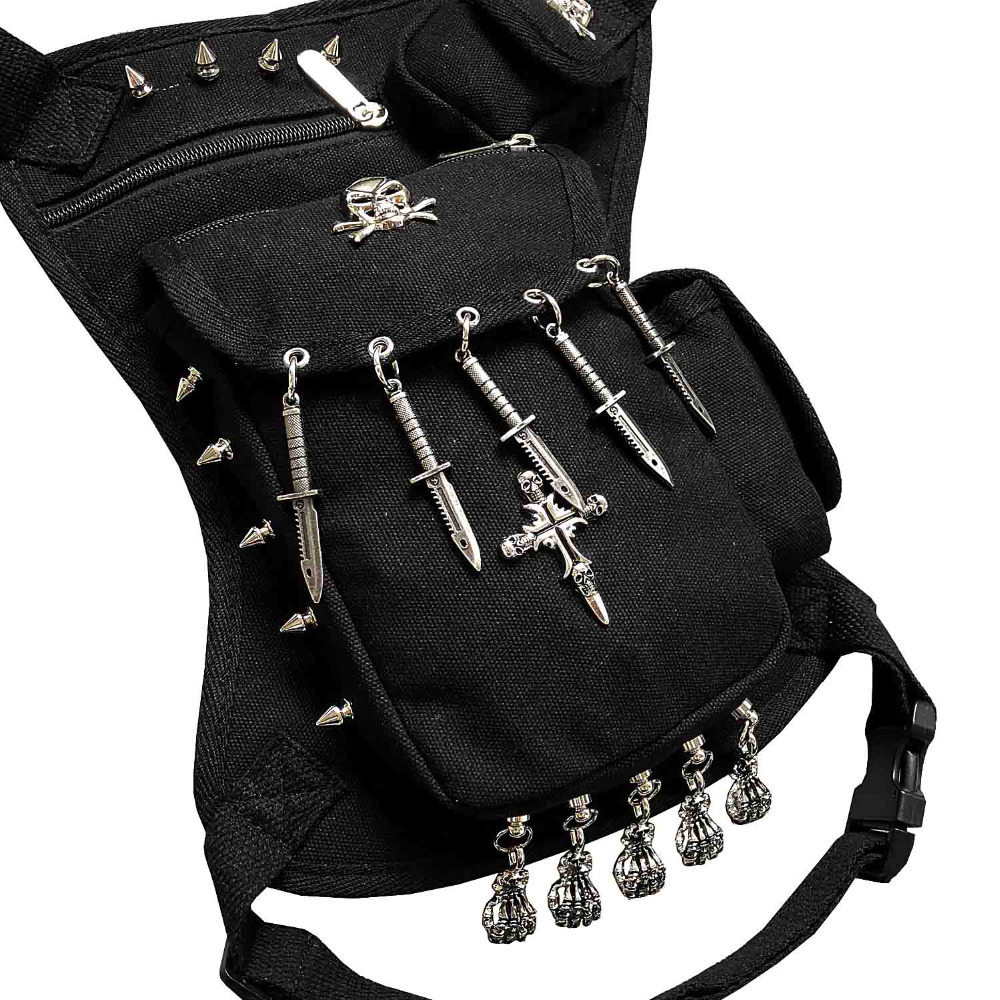 Steampunk Gothic Studded Drop Leg Bag Biker Pouch Waist Belt Pack In Packs From Luggage Bags On Aliexpress Alibaba Group